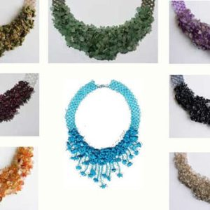 Shop Jewelry Making Tutorials! Pattern seed beads waterfall gemstones necklace jewelry tutorial beading netting stitch fringe seed beaded beading beads patterns net lace | Shop jewelry making and beading supplies, tools & findings for DIY jewelry making and crafts. #jewelrymaking #diyjewelry #jewelrycrafts #jewelrysupplies #beading #affiliate #ad