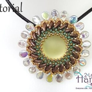 "Shop Jewelry Making Tutorials! Patterns for pendant, CRAW pattern, Beadwork tutorial,  Beading patterns instructions, Beaded pendant tutorial, ""creapip"" pendant 