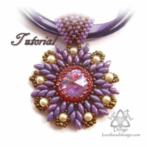 Shop Jewelry Making Tutorials! PDF Tutorial Star Flower Rivoli Pendant with Superduo Beads Tutorial Beading Pattern. English Only, | Shop jewelry making and beading supplies, tools & findings for DIY jewelry making and crafts. #jewelrymaking #diyjewelry #jewelrycrafts #jewelrysupplies #beading #affiliate #ad