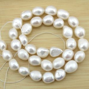 Shop Pearl Beads! 10-11mm Natural Baroque Pearl Beads, nugget Freshwater Pearl Beads, white Pearl Beads, pearl Strand, jewelry Making -28 Pieces-15.5 Inches-fs24 | Natural genuine beads Pearl beads for beading and jewelry making.  #jewelry #beads #beadedjewelry #diyjewelry #jewelrymaking #beadstore #beading #affiliate #ad