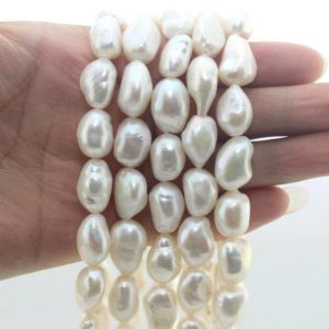 Shop Pearl Beads! 20%OFF 11-12mm Baroque Pearl Beads,Irregular Freshwater Pearl Beads,Nugget Pearl Beads,Wedding pearls,Wholesale-35 Pcs–15.5 inches–NS130 | Natural genuine beads Pearl beads for beading and jewelry making.  #jewelry #beads #beadedjewelry #diyjewelry #jewelrymaking #beadstore #beading #affiliate #ad