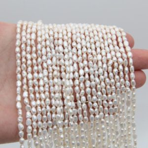 4~5mm Small Nugget Pearl Beads,White Pearl,Freshwater Pearl Beads,Loose Pearl,Pearl Strand,Seed Pearl,Natural Pearl,Luster Pearl Jewelry. | Natural genuine chip Pearl beads for beading and jewelry making.  #jewelry #beads #beadedjewelry #diyjewelry #jewelrymaking #beadstore #beading #affiliate #ad