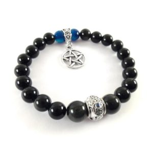 Shop Rainbow Obsidian Bracelets! Black Magic Protection Bracelet – Rainbow Obsidian Bracelet with Pentacle pendant – Witch Protection Bracelet – Evil Eye Amulet | Natural genuine Rainbow Obsidian bracelets. Buy crystal jewelry, handmade handcrafted artisan jewelry for women.  Unique handmade gift ideas. #jewelry #beadedbracelets #beadedjewelry #gift #shopping #handmadejewelry #fashion #style #product #bracelets #affiliate #ad