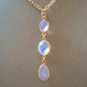 Shop Rainbow Moonstone Pendants! Perfect Pendant Collection — Rosebud — Rose Quartz and Rainbow Moonstone Pendant Necklace | Natural genuine Rainbow Moonstone pendants. Buy crystal jewelry, handmade handcrafted artisan jewelry for women.  Unique handmade gift ideas. #jewelry #beadedpendants #beadedjewelry #gift #shopping #handmadejewelry #fashion #style #product #pendants #affiliate #ad