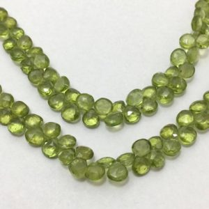 Shop Peridot Bead Shapes! Natural Peridot Faceted Hearts Beads, 5.5mm to 6mm, 8 inches, Green Beads. Gemstone Beads, Semiprecious Stone Beads | Natural genuine other-shape Peridot beads for beading and jewelry making.  #jewelry #beads #beadedjewelry #diyjewelry #jewelrymaking #beadstore #beading #affiliate #ad