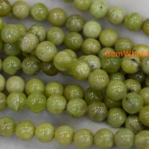"15.5""Natural Peridot 8mm/10mm round beads, ollive green color DIY beads, Green gemstone, semi-precious stone, genuine peridot gemstone 