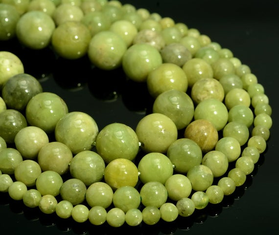 Genuine Natural Peridot Gemstone Grade Aa Green 4mm 6mm 8mm 10mm Round Loose Beads (a233)
