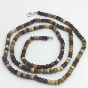 Shop Picture Jasper Necklaces! Picture Jasper Necklace Micro Faceted Rondelle 4.5 To 5 Mm 26 Inches / gemstone Beads / semi Precious Beads / picture Jasper Necklace | Natural genuine Picture Jasper necklaces. Buy crystal jewelry, handmade handcrafted artisan jewelry for women.  Unique handmade gift ideas. #jewelry #beadednecklaces #beadedjewelry #gift #shopping #handmadejewelry #fashion #style #product #necklaces #affiliate #ad