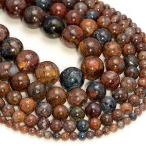 Genuine African Pietersite Gemstone Grade AA Blue Brown Red 4mm 6mm 8mm 10mm 12mm Round Loose Beads Full Strand (A207) | Natural genuine round Pietersite beads for beading and jewelry making.  #jewelry #beads #beadedjewelry #diyjewelry #jewelrymaking #beadstore #beading #affiliate #ad