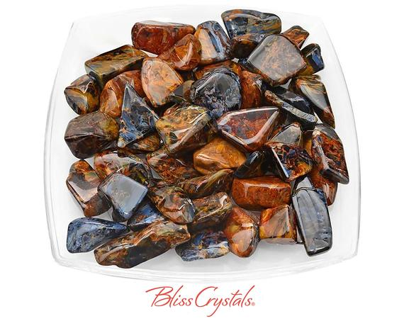 1 Grade Aa+ Gem Pietersite Tumbled Stone Chatoyant Flat Healing Crystal And Stone Ascension Stone #pt32