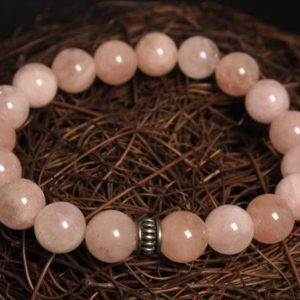 Shop Morganite Bracelets! Morganite Beaded Bracelet | Natural genuine Morganite bracelets. Buy crystal jewelry, handmade handcrafted artisan jewelry for women.  Unique handmade gift ideas. #jewelry #beadedbracelets #beadedjewelry #gift #shopping #handmadejewelry #fashion #style #product #bracelets #affiliate #ad
