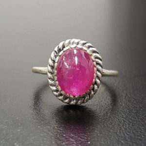 Shop Pink Tourmaline Rings! Tourmaline Ring, Natural Tourmaline, Pink Tourmaline, Pink Vintage Ring, October Birthstone, Vintage Rings, Solid Silver Ring, Tourmaline | Natural genuine Pink Tourmaline rings, simple unique handcrafted gemstone rings. #rings #jewelry #shopping #gift #handmade #fashion #style #affiliate #ad