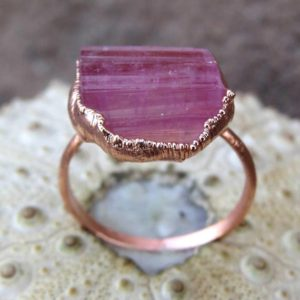 Shop Pink Tourmaline Rings! Tourmaline birthstone ring pink tourmaline ring october birthday ring dainty gift ring   Natural genuine Pink Tourmaline rings, simple unique handcrafted gemstone rings. #rings #jewelry #shopping #gift #handmade #fashion #style #affiliate #ad