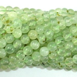 Shop Prehnite Round Beads! Prehnite Beads, 6mm (6.4mm) Round Beads, 15.5 Inch, Full strand, Approx 62 beads, Hole 1mm(265054005) | Natural genuine round Prehnite beads for beading and jewelry making.  #jewelry #beads #beadedjewelry #diyjewelry #jewelrymaking #beadstore #beading #affiliate #ad