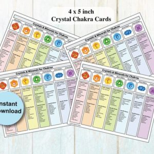 Printable Chakra Healing Crystals & Gemstones Cards 4/page | Shop jewelry making and beading supplies, tools & findings for DIY jewelry making and crafts. #jewelrymaking #diyjewelry #jewelrycrafts #jewelrysupplies #beading #affiliate #ad