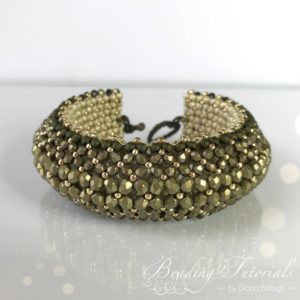 Shop Jewelry Making Tutorials! Puffy Bracelet Beading tutorial, Beading tutorials and patterns, Flat Chenille Bracelet beading pattern, chartreuse bracelet | Shop jewelry making and beading supplies, tools & findings for DIY jewelry making and crafts. #jewelrymaking #diyjewelry #jewelrycrafts #jewelrysupplies #beading #affiliate #ad