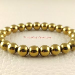Shop Pyrite Bracelets! Gold Pyrite Bracelet, Healing for Men & Women, Willpower, Reliability, Optimism, Stability, Calm, Protection, Gift for Men And Women 3338 | Natural genuine Pyrite bracelets. Buy handcrafted artisan men's jewelry, gifts for men.  Unique handmade mens fashion accessories. #jewelry #beadedbracelets #beadedjewelry #shopping #gift #handmadejewelry #bracelets #affiliate #ad