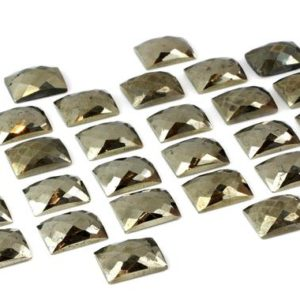 Shop Pyrite Stones & Crystals! Pyrite cabochon,faceted rectangle stone,gray pyrite,iron pyrite gemstone,loose gemstones,semiprecious cabochons wholesale – AA Quality | Natural genuine stones & crystals in various shapes & sizes. Buy raw cut, tumbled, or polished gemstones for making jewelry or crystal healing energy vibration raising reiki stones. #crystals #gemstones #crystalhealing #crystalsandgemstones #energyhealing #affiliate #ad