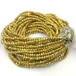 Shop Pyrite Rondelle Beads! 18 Inches Strand Indian Cutting Golden Pyrite Rondelle Beads 4mm Gemstone Beads   Natural genuine rondelle Pyrite beads for beading and jewelry making.  #jewelry #beads #beadedjewelry #diyjewelry #jewelrymaking #beadstore #beading #affiliate #ad
