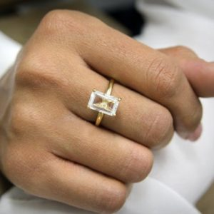 Shop Quartz Crystal Rings! crystal quartz ring,clear quartz ring,white quartz ring,gold ring,rectangle ring,gemstone ring,14k gold filled ring | Natural genuine Quartz rings, simple unique handcrafted gemstone rings. #rings #jewelry #shopping #gift #handmade #fashion #style #affiliate #ad