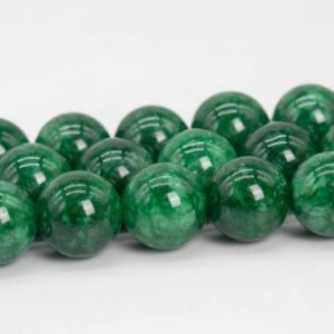 Shop Quartz Crystal Round Beads! Quartz Beads Emerald Green Color Grade AAA Natural Gemstone Round Loose Beads 6-7MM 8MM 10MM 12MM Bulk Lot Options | Natural genuine round Quartz beads for beading and jewelry making.  #jewelry #beads #beadedjewelry #diyjewelry #jewelrymaking #beadstore #beading #affiliate #ad