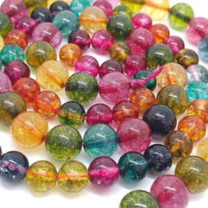 Shop Quartz Crystal Round Beads! Rock Crystal Quartz Multi Coloured Rainbow Round Beads / Quartz Gemstone Sparkling Vibrant Best Quality Beads / choose Size And Quantity | Natural genuine round Quartz beads for beading and jewelry making.  #jewelry #beads #beadedjewelry #diyjewelry #jewelrymaking #beadstore #beading #affiliate #ad