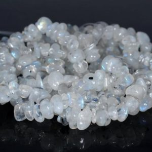 Shop Rainbow Moonstone Beads! 7-8MM  Rainbow Moonstone Gemstone Pebble Nugget Chip Loose Beads 16 inch  (80001795 H-A18) | Natural genuine beads Rainbow Moonstone beads for beading and jewelry making.  #jewelry #beads #beadedjewelry #diyjewelry #jewelrymaking #beadstore #beading #affiliate #ad
