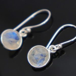 Shop Rainbow Moonstone Earrings! Rainbow moonstone Earrings 92.5 Sterling Silence ver Earrings rainbow 8x8mm Round Shape Earrings Jewellery Handmade Items Gift For Her | Natural genuine Rainbow Moonstone earrings. Buy crystal jewelry, handmade handcrafted artisan jewelry for women.  Unique handmade gift ideas. #jewelry #beadedearrings #beadedjewelry #gift #shopping #handmadejewelry #fashion #style #product #earrings #affiliate #ad