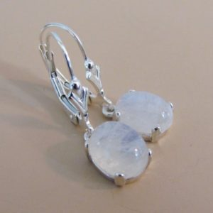 Rainbow Moonstone Earrings, Moonstone Jewelry in Sterling Silver, Bride Gift | Natural genuine Rainbow Moonstone earrings. Buy crystal jewelry, handmade handcrafted artisan jewelry for women.  Unique handmade gift ideas. #jewelry #beadedearrings #beadedjewelry #gift #shopping #handmadejewelry #fashion #style #product #earrings #affiliate #ad