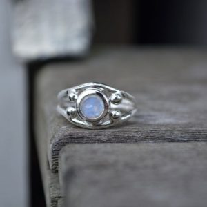 Shop Rainbow Moonstone Rings! Rainbow Moonstone, Size 6.75, Moonstone Ring, Faceted Moonstone Ring, Faceted Moonstone, Rainbow Moonstone Ring,Sterling Silver,Silver Ring | Natural genuine Rainbow Moonstone rings, simple unique handcrafted gemstone rings. #rings #jewelry #shopping #gift #handmade #fashion #style #affiliate #ad