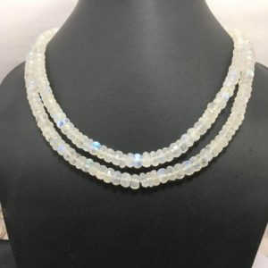 Shop Rainbow Moonstone Rondelle Beads! On Sale 180 cts Rainbow Moonstone faceted Rondelle  Natural Beads 6to8mm 17 inches  Necklace Gemstone Beads  Moonstone Beads Rondelle Beads. | Natural genuine rondelle Rainbow Moonstone beads for beading and jewelry making.  #jewelry #beads #beadedjewelry #diyjewelry #jewelrymaking #beadstore #beading #affiliate #ad