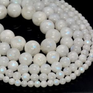 SALE !!! Genuine Rainbow Moonstone Gemstone Indian Grade AA 4mm 5mm 6mm 7mm 8mm 9mm 10mm 11mm 12mm Round Loose Beads Full Strand (499) | Natural genuine beads Gemstone beads for beading and jewelry making.  #jewelry #beads #beadedjewelry #diyjewelry #jewelrymaking #beadstore #beading #affiliate #ad