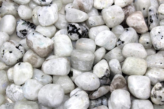 Rainbow Moonstone Aa+ Tumbled Crystal For Emotional Healing, Intuition, Intellect, Divine Feminine, Moon Energy, Insight, Nature, Confidence