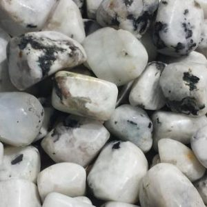 Shop Tumbled Rainbow Moonstone Crystals & Pocket Stones! RAINBOW MOONSTONE TUMBLED Stone One (1) Medium/Large Natural Tumble Stone | Natural genuine stones & crystals in various shapes & sizes. Buy raw cut, tumbled, or polished gemstones for making jewelry or crystal healing energy vibration raising reiki stones. #crystals #gemstones #crystalhealing #crystalsandgemstones #energyhealing #affiliate #ad