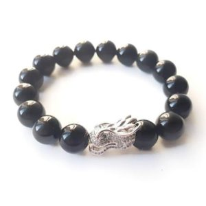 Shop Rainbow Obsidian Bracelets! Rainbow obsidian with dragon charm bracelet | Natural genuine Rainbow Obsidian bracelets. Buy crystal jewelry, handmade handcrafted artisan jewelry for women.  Unique handmade gift ideas. #jewelry #beadedbracelets #beadedjewelry #gift #shopping #handmadejewelry #fashion #style #product #bracelets #affiliate #ad