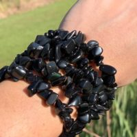 Rainbow Obsidian Chip Crystal Bracelet | Natural genuine Gemstone jewelry. Buy crystal jewelry, handmade handcrafted artisan jewelry for women.  Unique handmade gift ideas. #jewelry #beadedjewelry #beadedjewelry #gift #shopping #handmadejewelry #fashion #style #product #jewelry #affiliate #ad