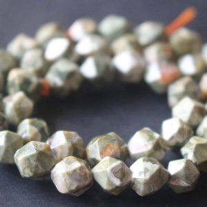 Shop Rainforest Jasper Beads! Natural Faceted Birdeye Rhyolite Star Cut Nugget Beads, 6mm / 8mm / 10mm / 12mm Beads Supply, 15 Inches One Starand | Natural genuine chip Rainforest Jasper beads for beading and jewelry making.  #jewelry #beads #beadedjewelry #diyjewelry #jewelrymaking #beadstore #beading #affiliate #ad