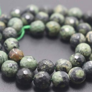 Shop Rainforest Jasper Beads! 128 Faceted Green Birdseye Rhyolite Round Beads,6mm/8mm/10mm/12mm Gemstone Beads Supply,15 inches one starand | Natural genuine faceted Rainforest Jasper beads for beading and jewelry making.  #jewelry #beads #beadedjewelry #diyjewelry #jewelrymaking #beadstore #beading #affiliate #ad