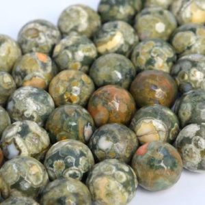 Shop Rainforest Jasper Beads! Genuine Natural Rainforest Rhyolite Loose Beads Micro Faceted Round Shape 6mm 8mm 10mm 12mm | Natural genuine faceted Rainforest Jasper beads for beading and jewelry making.  #jewelry #beads #beadedjewelry #diyjewelry #jewelrymaking #beadstore #beading #affiliate #ad
