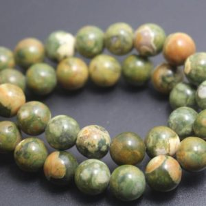 6mm/8mm/10mm/12mm Birdeye Rhyolite round beads,Smooth and Round Stone Beads,15 inches one starand | Natural genuine beads Rainforest Jasper beads for beading and jewelry making.  #jewelry #beads #beadedjewelry #diyjewelry #jewelrymaking #beadstore #beading #affiliate #ad