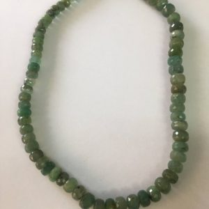 Shop Emerald Rondelle Beads! Rare Emerald faceted beads necklace size 6mm to 10mm weight 201 carats length 15 inches | Natural genuine rondelle Emerald beads for beading and jewelry making.  #jewelry #beads #beadedjewelry #diyjewelry #jewelrymaking #beadstore #beading #affiliate #ad