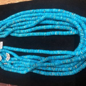 RARE Natural Sleeping Beauty Turquoise high grade fine hand cut rondelle multi strand necklace strands Classic desired color twisted draped | Natural genuine beads Array beads for beading and jewelry making.  #jewelry #beads #beadedjewelry #diyjewelry #jewelrymaking #beadstore #beading #affiliate #ad