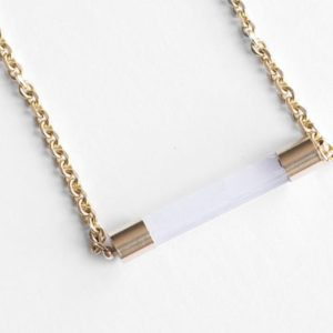 Shop Selenite Necklaces! Raw Selenite Bar Necklace – With Raw Brass – By Charlie Girl Gems | Natural genuine Selenite necklaces. Buy crystal jewelry, handmade handcrafted artisan jewelry for women.  Unique handmade gift ideas. #jewelry #beadednecklaces #beadedjewelry #gift #shopping #handmadejewelry #fashion #style #product #necklaces #affiliate #ad