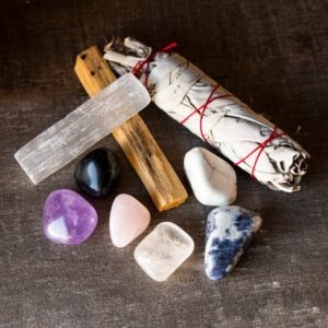 Shop Crystal Healing! Rest & Relaxation Healing Crystals Kit – Healing Stones Set – 6 Tumbled Stones, Palo Santo, California White Sage and Selenite Stick | Shop jewelry making and beading supplies, tools & findings for DIY jewelry making and crafts. #jewelrymaking #diyjewelry #jewelrycrafts #jewelrysupplies #beading #affiliate #ad