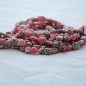 "Shop Rhodochrosite Chip & Nugget Beads! High Quality Grade A Natural Rhodochrosite Semi-Precious Gemstone Tumbled Stone Nugget Pebble Beads – approx 5mm – 8mm – 15.5"" strand 