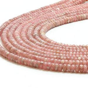 Shop Rhodochrosite Rondelle Beads! Rhodochrosite Beads, precious Beads, gemstone Beads, rondelle Beads, natural Beads, semiprecious Beads, pink Beads, earth Minded Beads | Natural genuine rondelle Rhodochrosite beads for beading and jewelry making.  #jewelry #beads #beadedjewelry #diyjewelry #jewelrymaking #beadstore #beading #affiliate #ad
