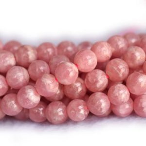 "Shop Rhodochrosite Round Beads! 16"" 6mm Aa Natural Rhodochrosite Round Beads, Red Semi-precious Stone Wgdo 