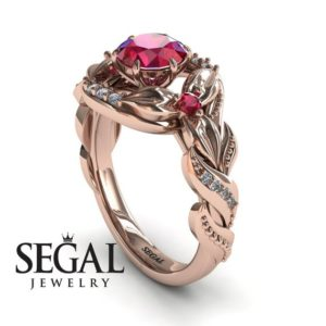 Best engagement rings 18K rose gold Engagement Ring Red Ruby Diamonds Ring – Isabelle | Natural genuine Array rings, simple unique alternative gemstone engagement rings. #rings #jewelry #bridal #wedding #jewelryaccessories #engagementrings #weddingideas #affiliate #ad