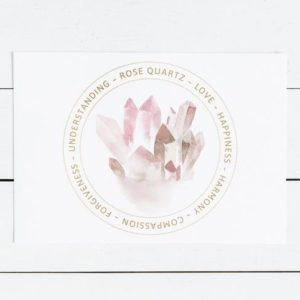 Rose Quartz Crystal Meaning Card – Printable Display Card – Heart Chakra Crystal – Jewelry Card – Gift Box Insert – | Shop jewelry making and beading supplies, tools & findings for DIY jewelry making and crafts. #jewelrymaking #diyjewelry #jewelrycrafts #jewelrysupplies #beading #affiliate #ad