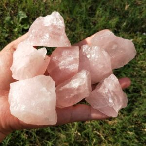 Shop Raw & Rough Rose Quartz Stones! Raw Rose Quartz Chunk | Natural genuine stones & crystals in various shapes & sizes. Buy raw cut, tumbled, or polished gemstones for making jewelry or crystal healing energy vibration raising reiki stones. #crystals #gemstones #crystalhealing #crystalsandgemstones #energyhealing #affiliate #ad